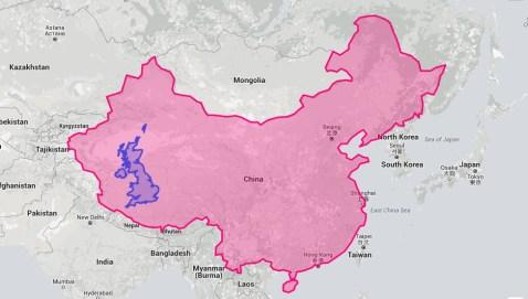 China is massive