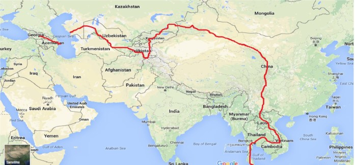 Cycling Around the World Route