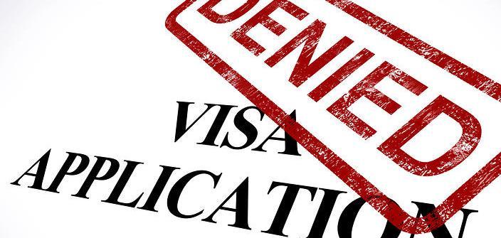 Visa Application Denied Stamp Showing Entry Admission Refused