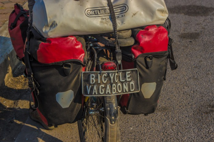 The bicycle vagabond cycling around the world.
