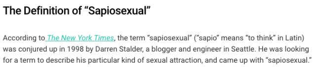 Sapiosexual, sexual identity