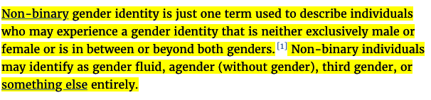 pansexual, non-binary