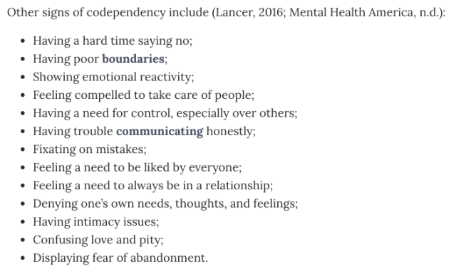 codependent, psychology