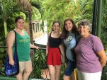 Izzy, Lily, Grandma, and I in front of Hemingway's writer's studio