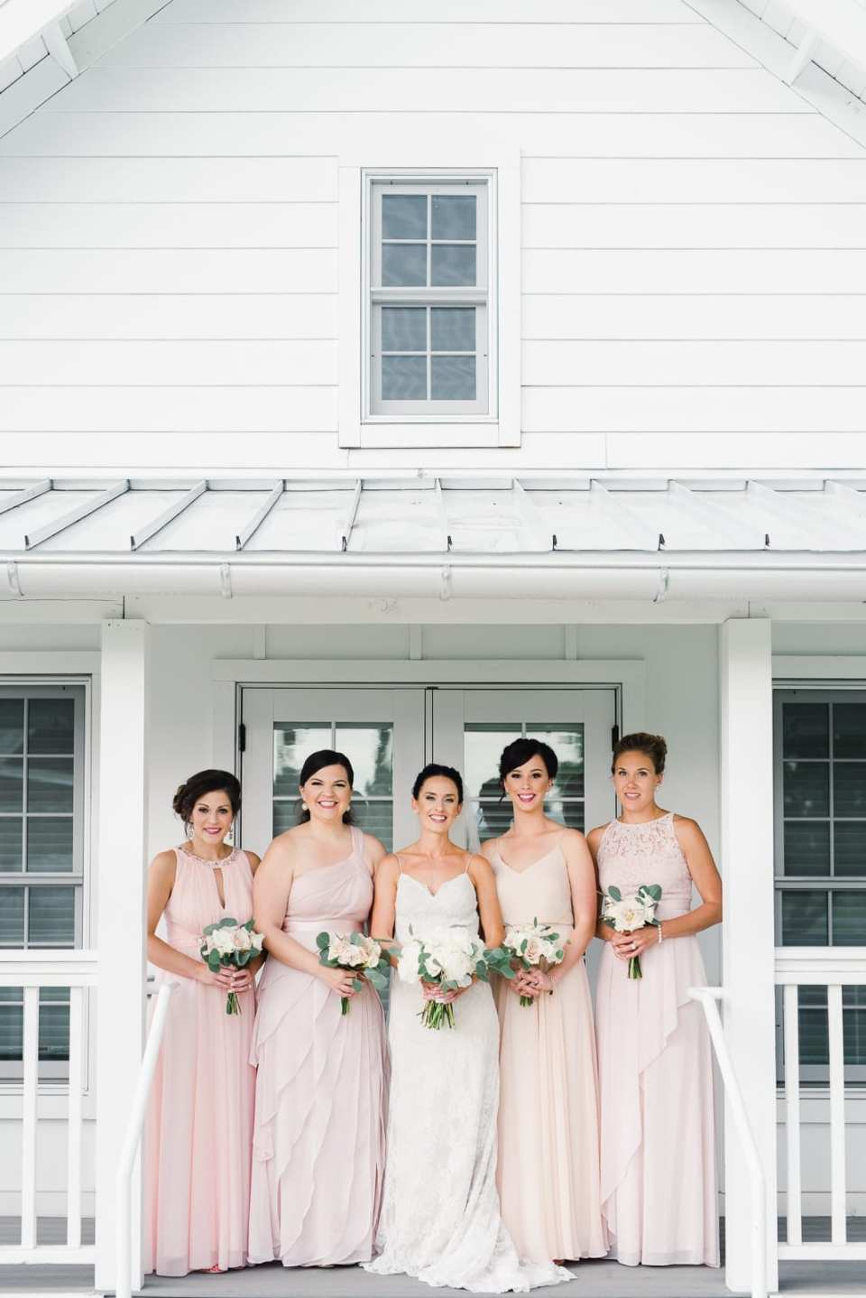 Classic Wedding Style Bridesmaids and Bride | Josie V Photography
