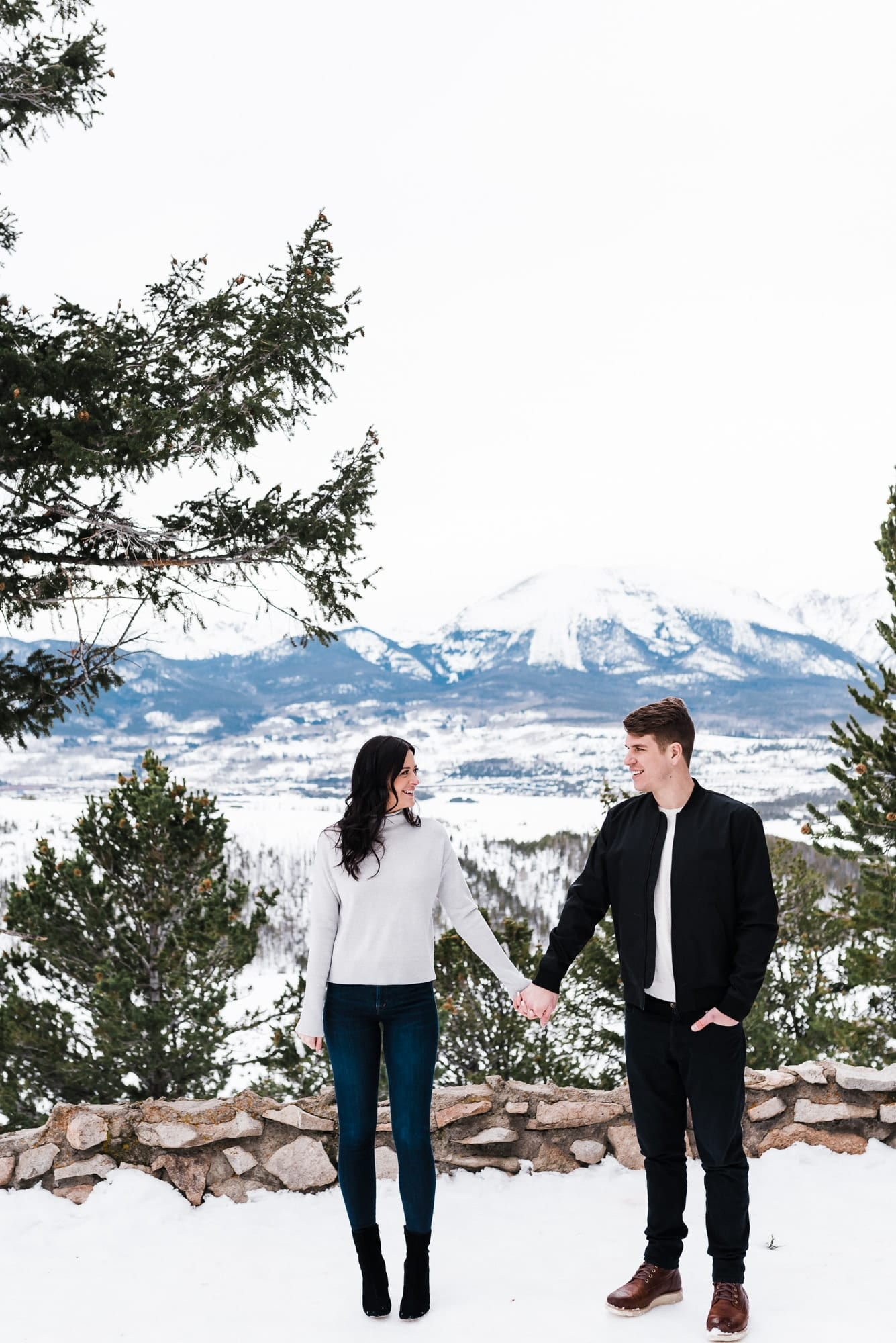 Colorado Winter Engagement Photos by Josie V