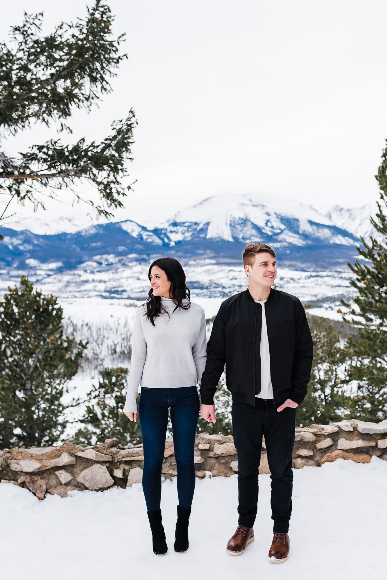Bright Winter Engagement Photos by Josie V