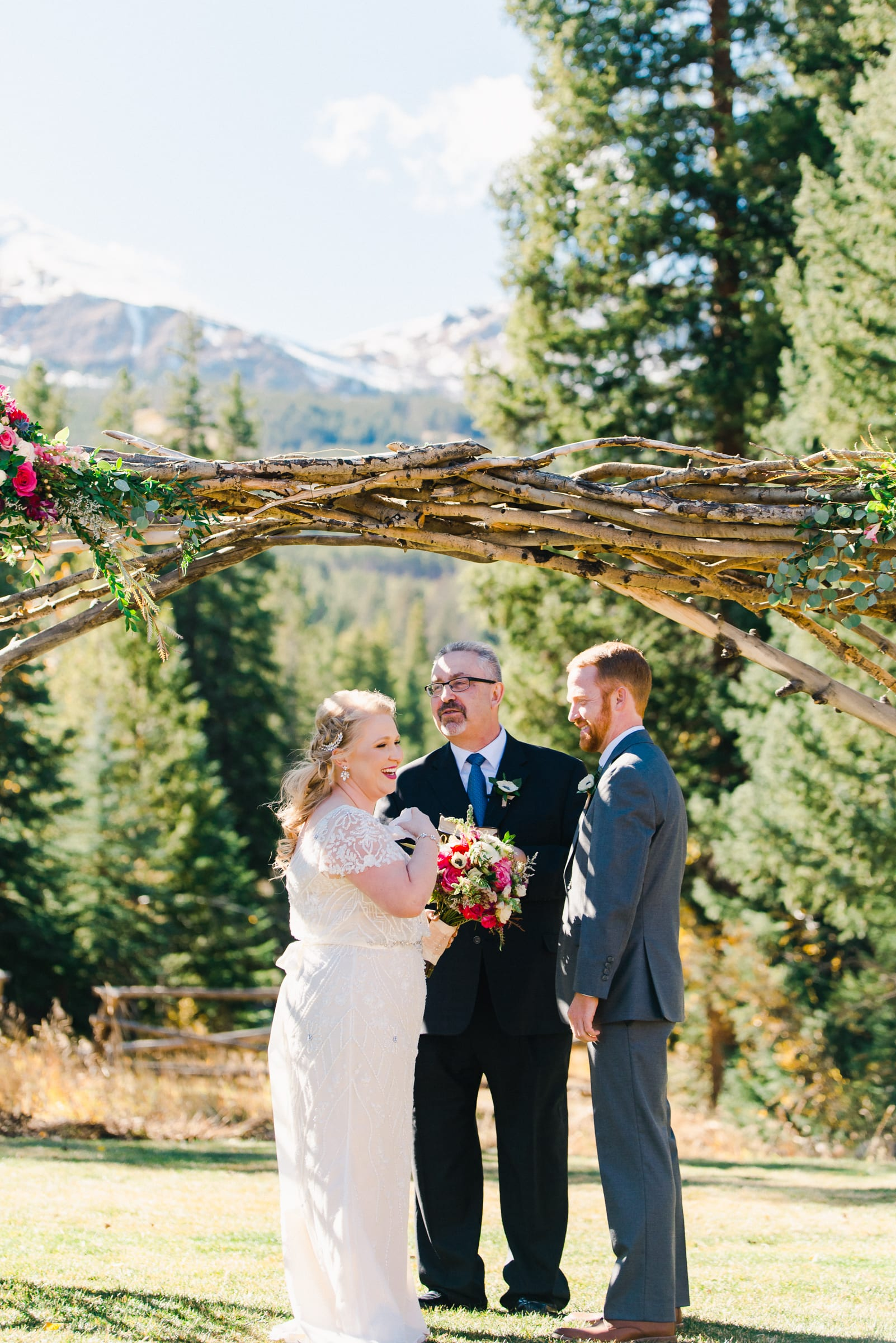 Fall Mountain Wedding Ceremony | Josie V Photography