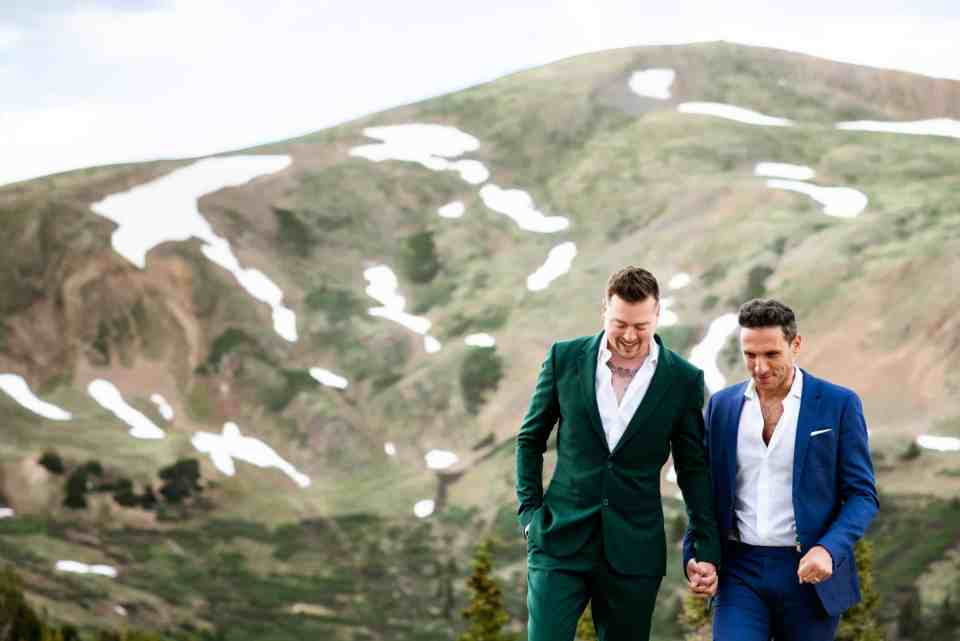Vibrant Gay Elopement in Colorado Mountains | Josie V Photography