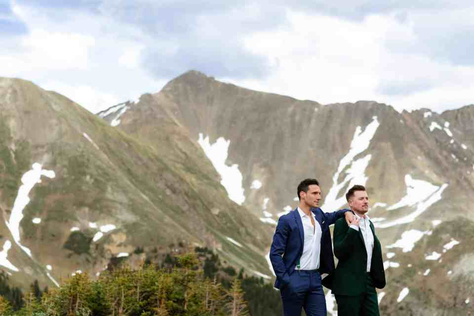 Colorado Mountain Elopement Ceremony | Josie V Photography