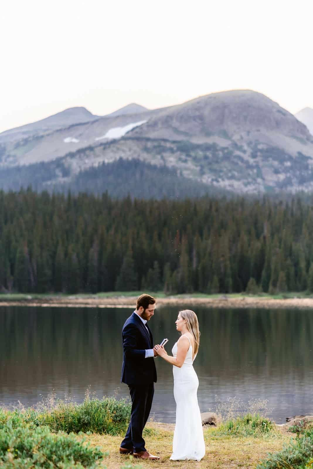 Reading Vows on a mountainside | Josie V Photography
