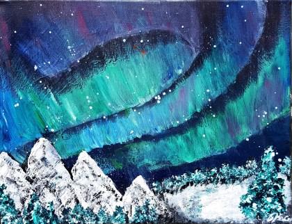 Aurora borealis, 30x40 cm