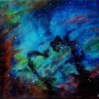 Seahorse Nebula - acrylic painting