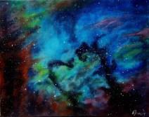 Seahorse nebula, 40x50 cm