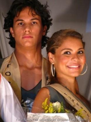 Helder Diniz e Priscila Hilário, o casal Top Fashion do Lyceu de 2009.