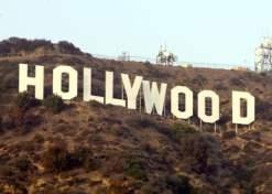 O letreiro de Hollywood.