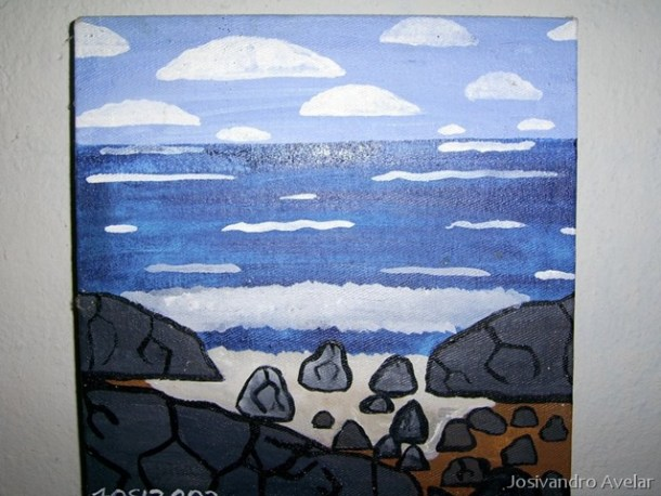 Mar com Pedras- versão tela