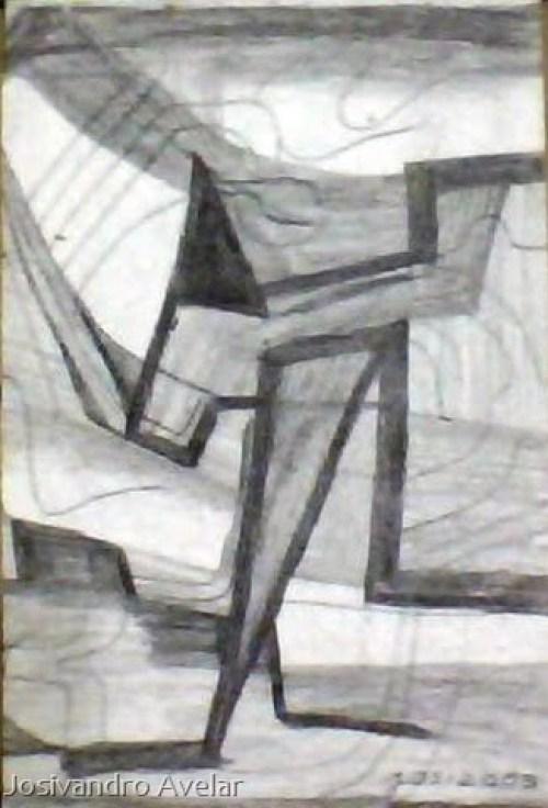 Um cavalo? Um burro? Uma pessoa? Enquanto não sei o que é, fica sendo então um desenho abstrato.