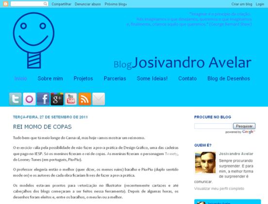 O Blog Josivandro Avelar hoje.