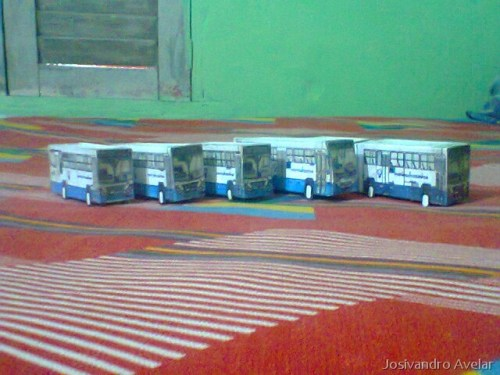Foram montados cinco estilos diferentes de miniaturas.
