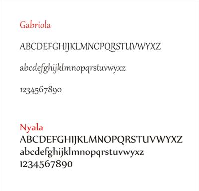 Esquemas das tipologias Gabriola e Nyala.