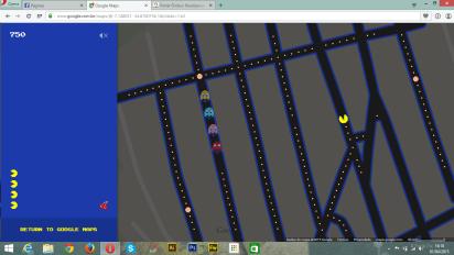 Os monstrinhos estão na Rua Bartira. Pac-Man está na 14 de Julho.