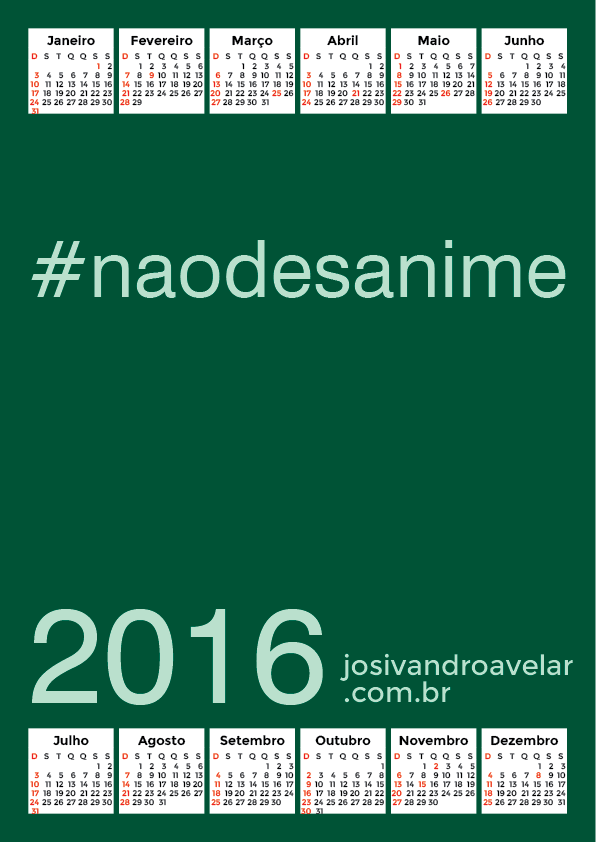 calendário 2016 31