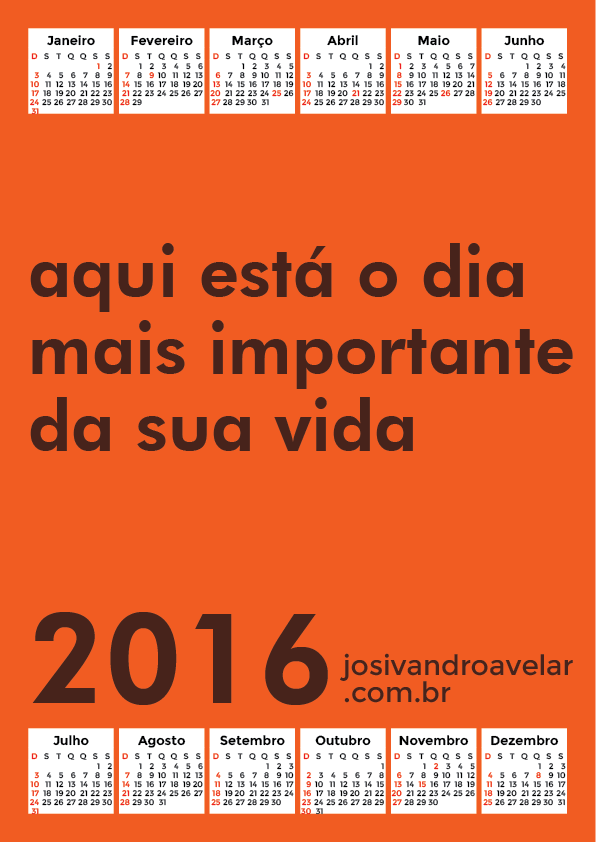 calendário 2016 36