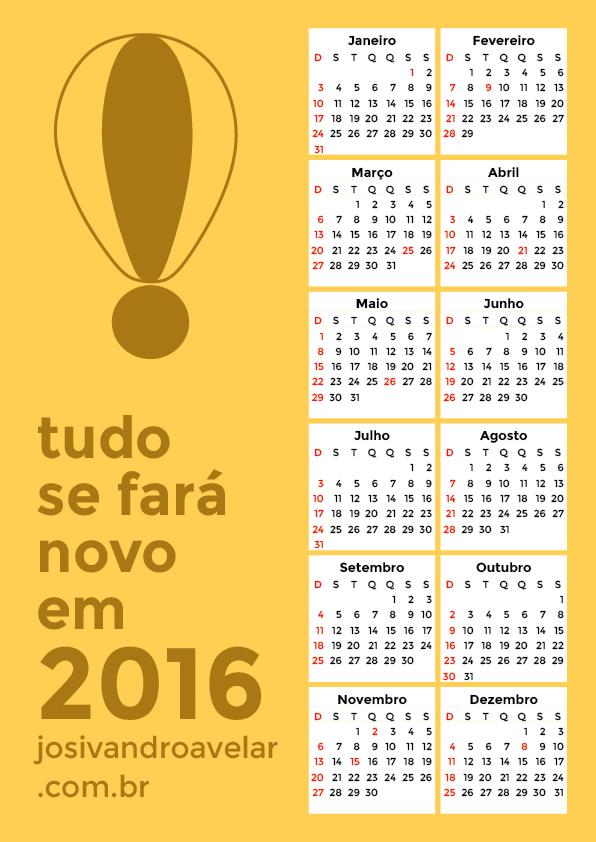 calendário 2016 7