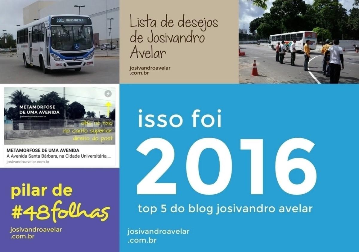 TOP 5 DO BLOG: ISSO FOI 2016