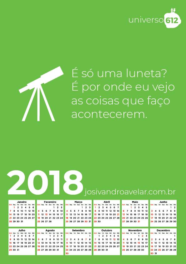 CALENDÁRIO 2018 COLORS 10