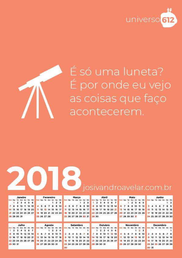 CALENDÁRIO 2018 COLORS 22