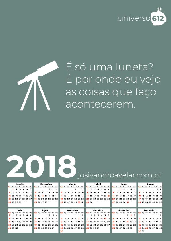CALENDÁRIO 2018 COLORS 23