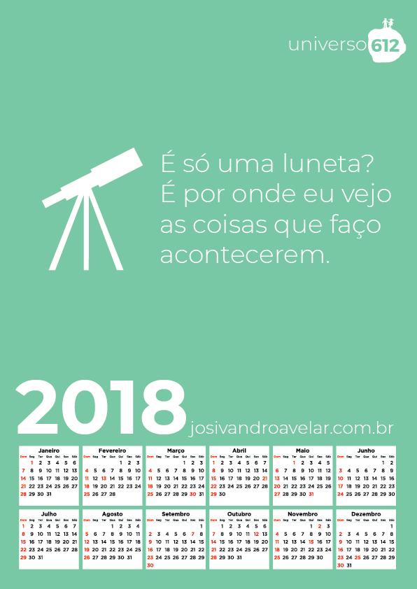 CALENDÁRIO 2018 COLORS 26