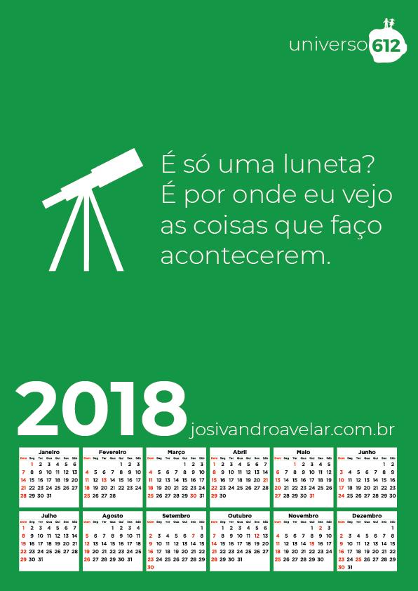 CALENDÁRIO 2018 COLORS 1
