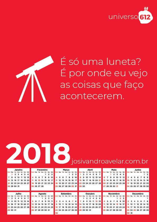 CALENDÁRIO 2018 COLORS 3