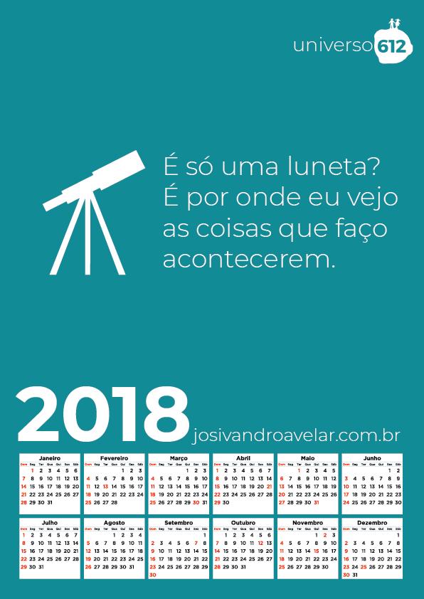 CALENDÁRIO 2018 COLORS 4