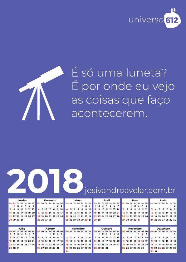 CALENDÁRIO 2018 COLORS 5