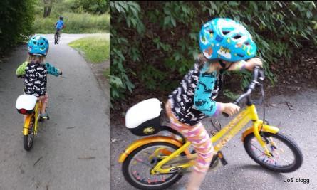 Simon på cykel