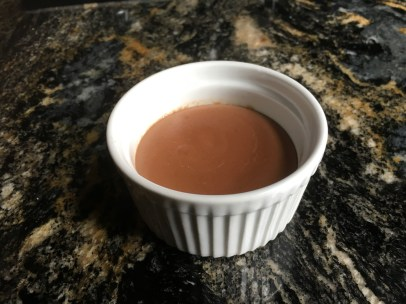 Bittersweet chocolate pudding