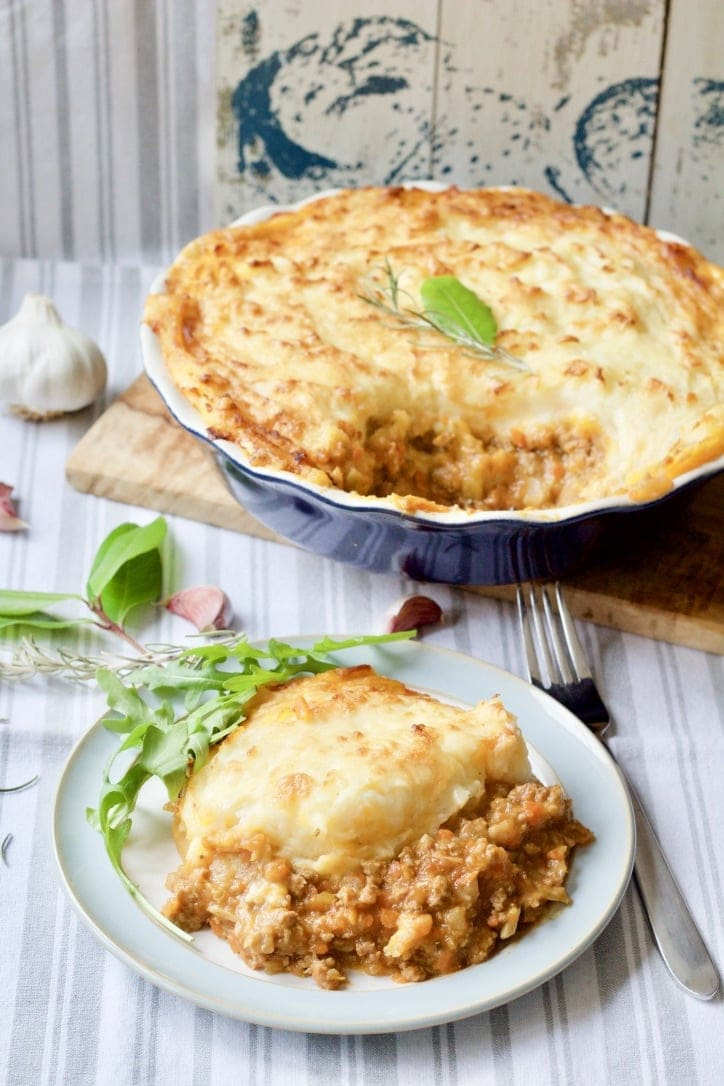 Shepherd's Pie with Roasted Garlic Mashed Potatoes