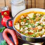 Easy Prawn & Chorizo Cheat's Paella