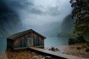 Mysterious abandoned boathouse