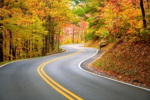Winding road in Appalachians
