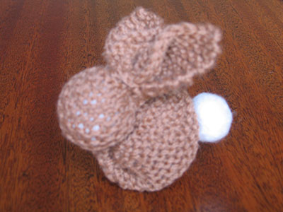 Knitted Bunny tutorial - Step 9