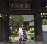 青・銀・白 三色カラーのワンピース(1)