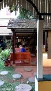 Open air breakfast area