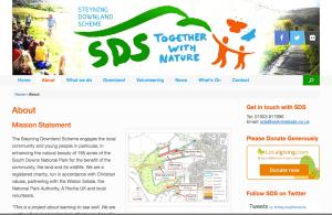 Steyning downland scheme website page