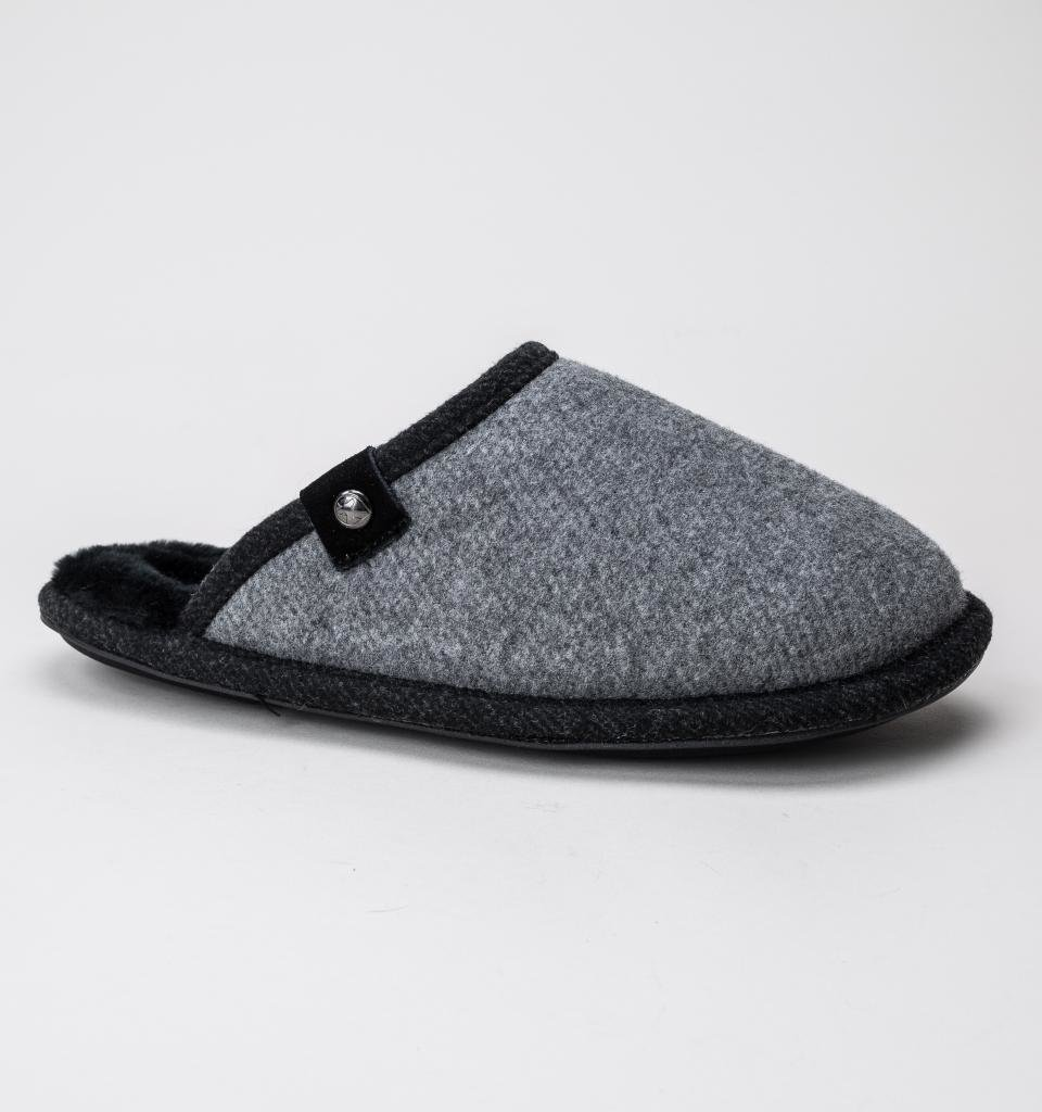 Best Bedroom Athletics Spacey Grey Felt Mens Slippers Free Uk With Pictures