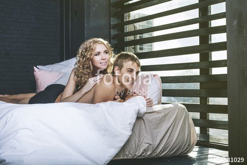 Best Man And Woman Couple In Their Underwear In The Bedroom Of With Pictures